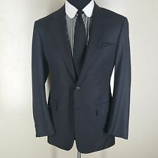 CHESTER BARRIE SAVILE ROW GRAY BLAZER 2 BUTTON SIDE VENTS100% PURE WOOL 40 LONG