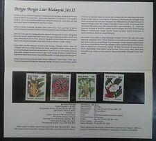 MALAYSIA 1993 WILD FLOWERS SERIES II SG 505 - 508 PRESENTATION PACK
