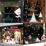 New Christmas Vinyl Window Wall Stickers Decal Snowman Removable Home Room Decor