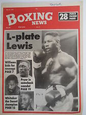 Boxing News 25 May 1990 Lewis Williams Pryor Whitaker Junior ABA-Naz Hamed