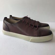 W-445195 New Gucci Betis Burgundy Leather Sneakers Shoes Marked Size 8 US 9