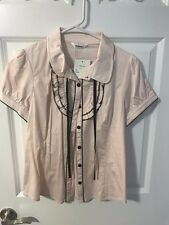 New MATSUMI Japanese brand pink elegant and cute shirt size M