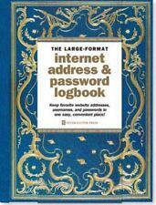 The Large-Format Internet Address & Password Logbook (Address Book)