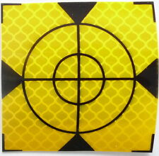 Set of 50pcs. Yellow Reflective labels 60mm x 60mm geodesy surveying