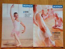 2 catalogues accessoires danse danseuses Décathlon 2003 et 2005/2006