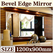 1200x900mm Frameless Bathroom Mirror Bevel Edge Wall Mounted Large Rectangle NEW