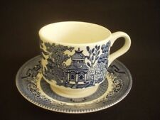 Unboxed White Staffordshire Pottery Tableware Cups & Saucers