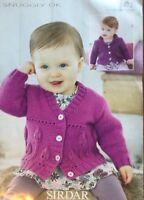 """Sirdar DK Knitting Pattern Girls Cardigan Size 18 26"""""""