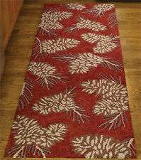 "AREA RUGS - ""PINECREST LODGE"" RUG - 24"" X 72"" RUNNER - PINECONE HAND HOOKED RUG"