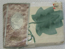 "VTG COVENTRY MANOR ""Trailing Ivy"" 2 Curtain Panels w/Ties 1 Valance Cotton New"