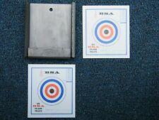 Bsa Airgun Metal target pellet stop with 2 targets - New never used