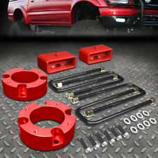 """FOR 2007-2018 TOYOTA TUNDRA 2/4WD RED 3""""F+2""""R SPACERS+BLOCKS LEVELING LIFT KIT"""