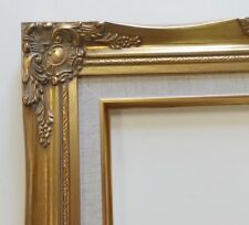 Picture Frame-12x16 Vintage Antique Style Ornate Baroque Gold Linen Liner 637G