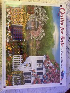 White Mountain 1000 Piece Puzzle Quilts For Sale Diane Phalen Flowers Gazebo