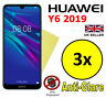 3x HQ MATTE ANTI GLARE SCREEN PROTECTOR COVER FILM GUARD FOR HUAWEI Y6 2019