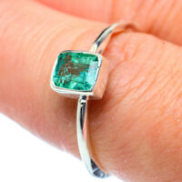 Zambian Emerald 925 Sterling Silver Ring Size 8 Ana Co Jewelry R38364F
