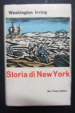STORIA DI NEW YORK  Washington Irving  Anna Vari  I edizione 1966  Neri Pozza