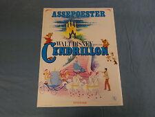ORIGINAL MOVIE POSTER / AFFICHE - CENDRILLON / ASSEPOESTER ( WALT DISNEY )