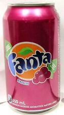 FULL 12oz 355ml Can Coca-Cola's Fanta Raisin Grape Canada French English 2016