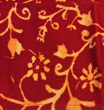 Directors Chair Cover Bright Red Orange Flowers Canvas Rare 22x15 Seat 20x7 Back