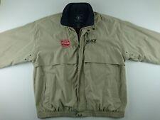 Vintage Edward Hines Lumber SEMCO XL Tan Jacket Windbreaker Zip Lined O