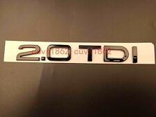 Gloss Black 2.0 TDI Trunk Rear Number Letters Words Badge Emblem for Audi