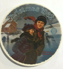 Norman Rockwell 1982 Limited Edition Christmas Courtship Graphic Christmas Plate