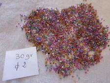 PROMO 30 gr perle ancienne de passementerie multicolore à coudre bijou tulle
