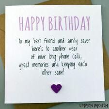 FUNNY BEST FRIEND BIRTHDAY CARD/ BESTIE / HUMOUR/ FUN / SARCASM - Sanity Saver