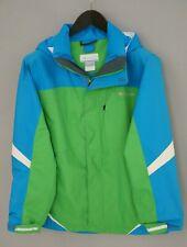 Boys Columbia Jacket Blue Hooded Breathable Waterproof 14/16 VAT533