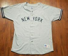 RARE RUSSELL Athletics Derek Jeter New York Yankees Jersey XL VINTAGE GREY MENS
