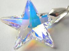 Caja de regalo gratis con 925 Collar De Plata & Star pendiente Hecho Con Cristal De Swarovski