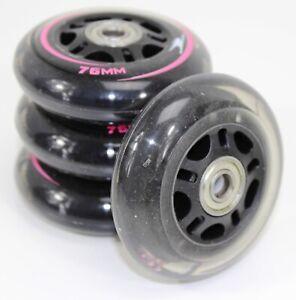 SPEED Inliner Rollen 76 mm   Blade Inline Roller Skates   black-pink x 4