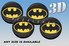 BATMAN domed wheel center cap decals emblems stickers 4 pcs ~ ANY SIZE ~ y/b