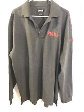 Palms Casino Playboy Polo Sz Xlarge Long Sleeve Gray Las Vegas