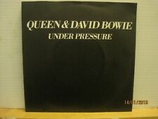 "QUEEN & DAVID BOWIE under pressure/soul brother EMI 19817""pic sleeve-freeUKpost"