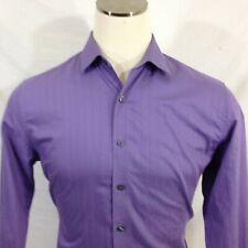 Kenneth Cole Reaction Mens Slim Fit L/S Purple Dress Shirt Size 16-33