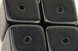 Pack of 5 Black Resin Large Cube Bead 37887-239