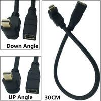 30cm 4K Mini DisplayPort Male to Mini DisplayPort Female Extension Adapter Cable