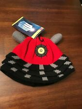 NWT BBC Doctor Who Red Dalek Knit Cuff Beanie Skull Cap Licensed HAT