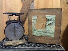 Antique Universal Family Kitchen Scale 24 pounds Pat. Date 1865 & Original Box