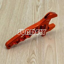 AN3-12AN Adjustable Spanner Aluminum Anodized Wrench Fitting Tools Orange