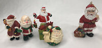 Lot Of 5 Christmas Santa Claus Decorations Magnet Ornament Collectibles
