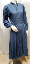 Vintage TICKETS CALIFORNIA DENIM JEAN BUTTON FRONT DRESS - Size S/M - EUC