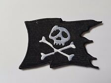 Skull and Crossbones Pirate Flag Iron On Patch Sew On Transfer badge fancy Dress
