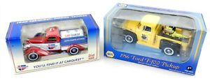 1:43 Scale Die Cast Lot of 2 ~ 1936 CARQUEST TANKER & 1956 FORD PICKUP ~ T13