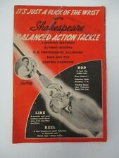 1939 SHAKESPEARE  Balanced Action Tackle Fishing Advertisement