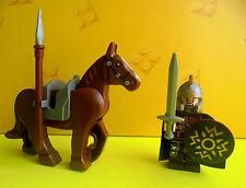 Lego Herr der Ringe Hobbit Eomermit Pferd Waffen Umhang aus Set 9471