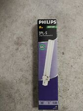 1 Philips 9W PL-S Compact Fluorescent Light Lamp Bulb NEW 835/2P