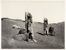 c.1857  PHOTO EGYPT FRITH COLOSSI AND SPHYNX AT WADY SABOUA